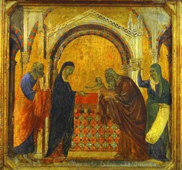Anna Simeon Presentation in the Temple - Duccio di Buoninsegna copy