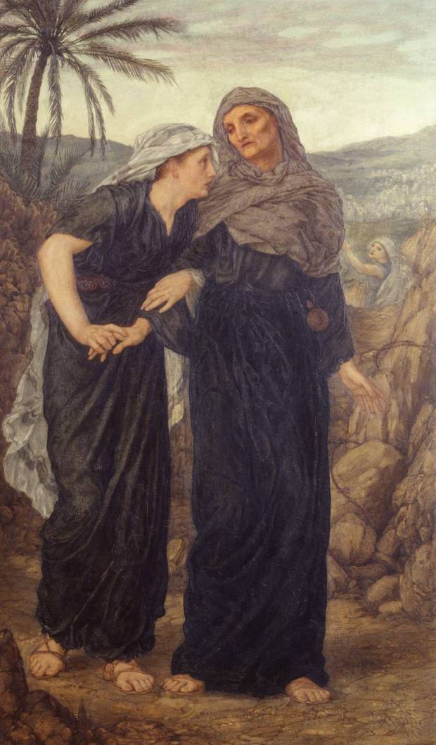 Naomi, Ruth and Obed 1876-7 by Thomas Matthews Rooke 1842-1942